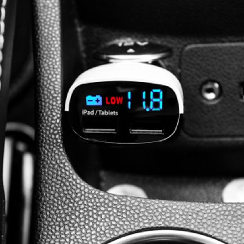 Capdase Original Dual USB Car Charger Real-Time Voltage Monitor 3.4 Ampere W - Putih
