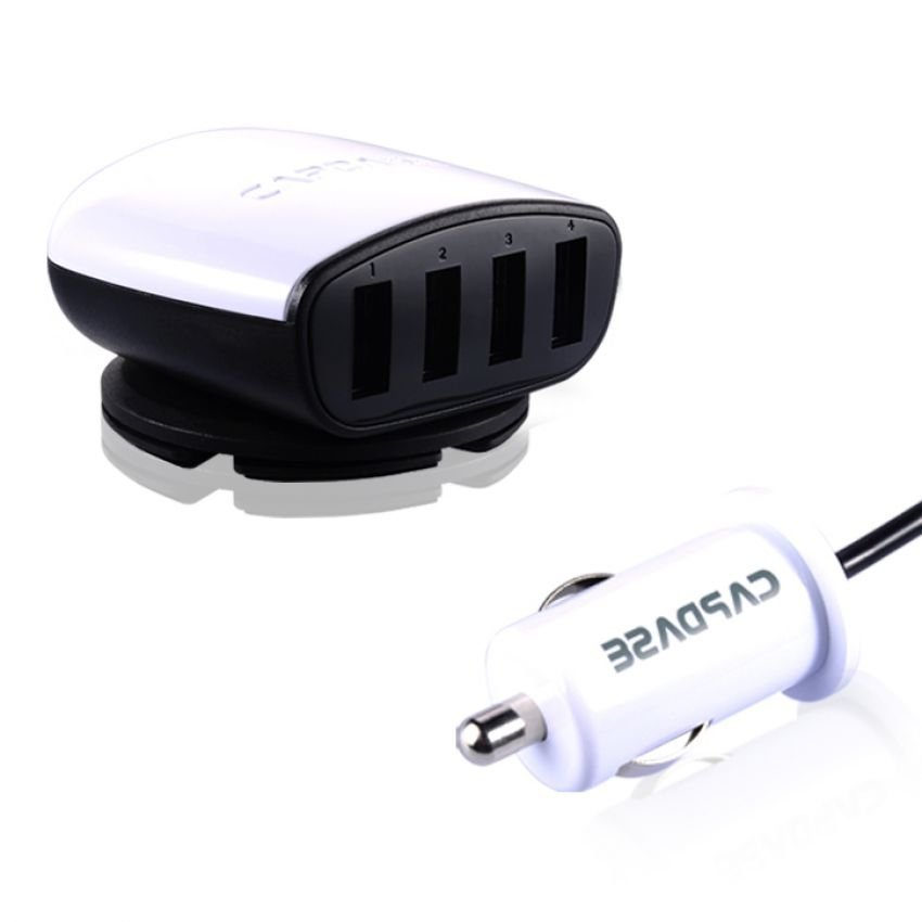 Capdase Quartet USB Car Charger Boosta Z4 6.2Ampere - Putih