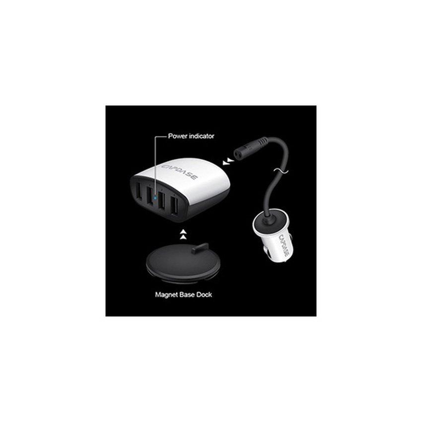 Capdase Quartet USB Car Charger Boosta Z4 6.2Ampere - Putih