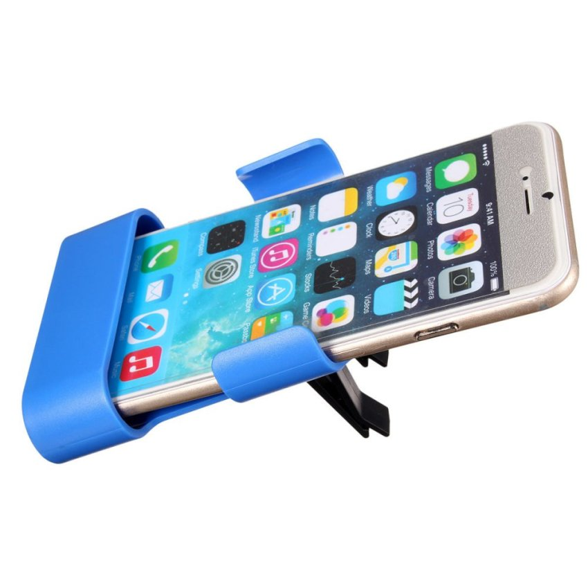 Car Air Vent Clip Mount Holder Cradle Stand For iPhone 6 Galaxy S3 S4 S5 HTC M9 Blue (Intl)