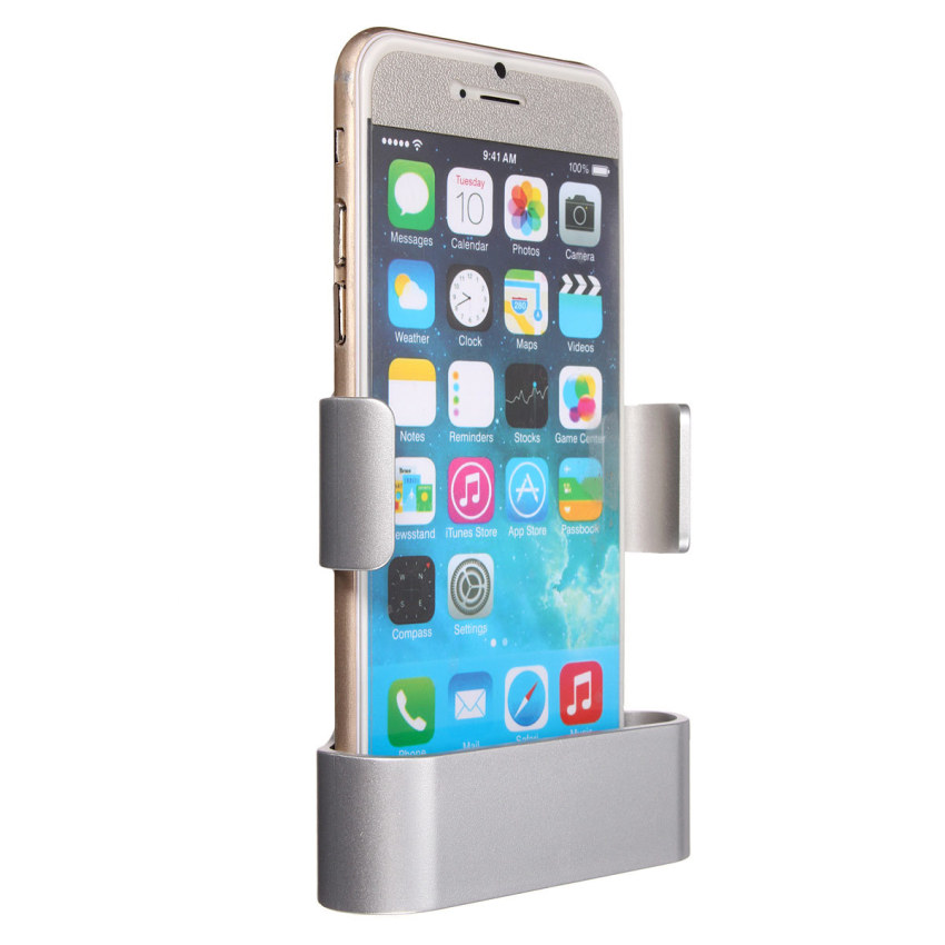 Car Air Vent Clip Mount Holder Cradle Stand For iPhone 6 Galaxy S3 S4 S5 HTC M9 (Silver) (Intl)