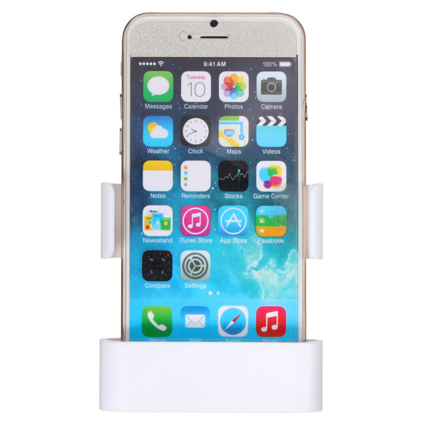 Car Air Vent Clip Mount Holder Cradle Stand For iPhone 6 Galaxy S3 S4 S5 HTC M9 White (Intl)