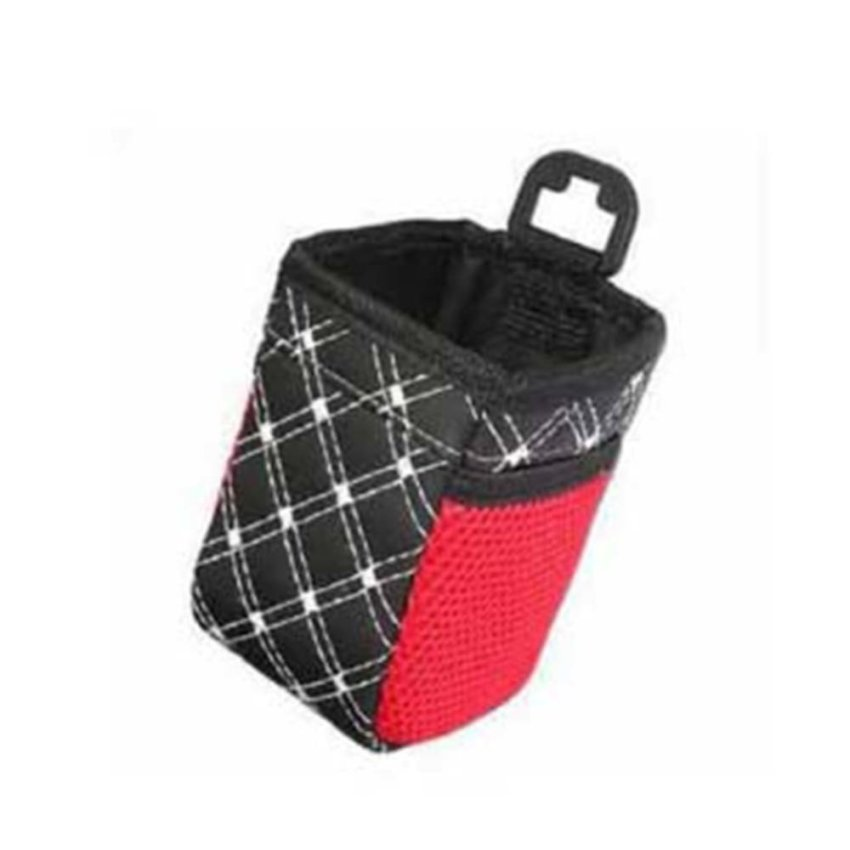 Car Auto Air Vent Mobile Phone Grid Pattern Mesh Holder Storage Pouch Bag Black (Intl)