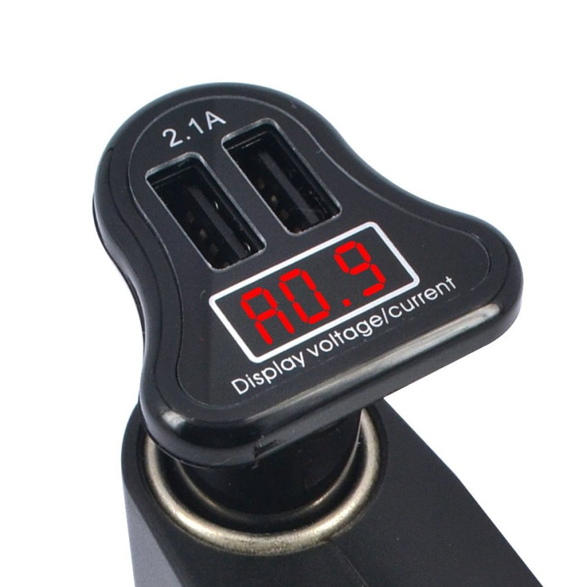 Car Charger Dual USB with LED Display 2.1A
