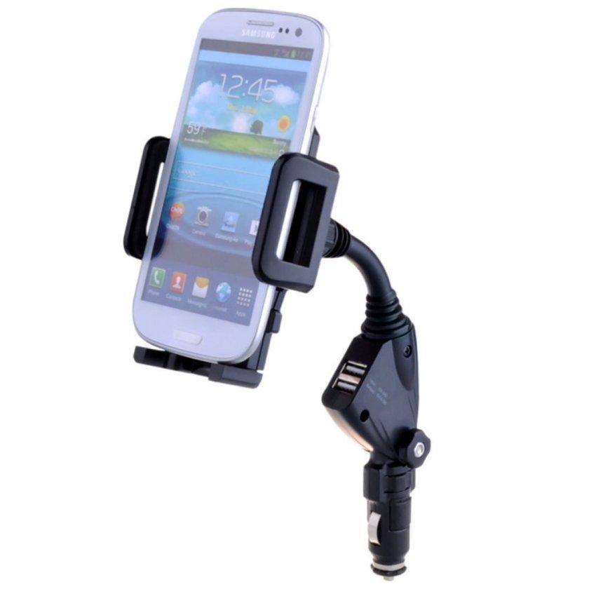 Car Cigarette Lighter Mount Holder Charger for Iphone Samsung S4/3 Note 2 (Intl)