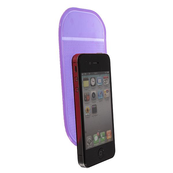 Car Dashboard Magic Anti-Slip Sticky Pad Mat Key Cellphone Holder (Purple) (Intl)