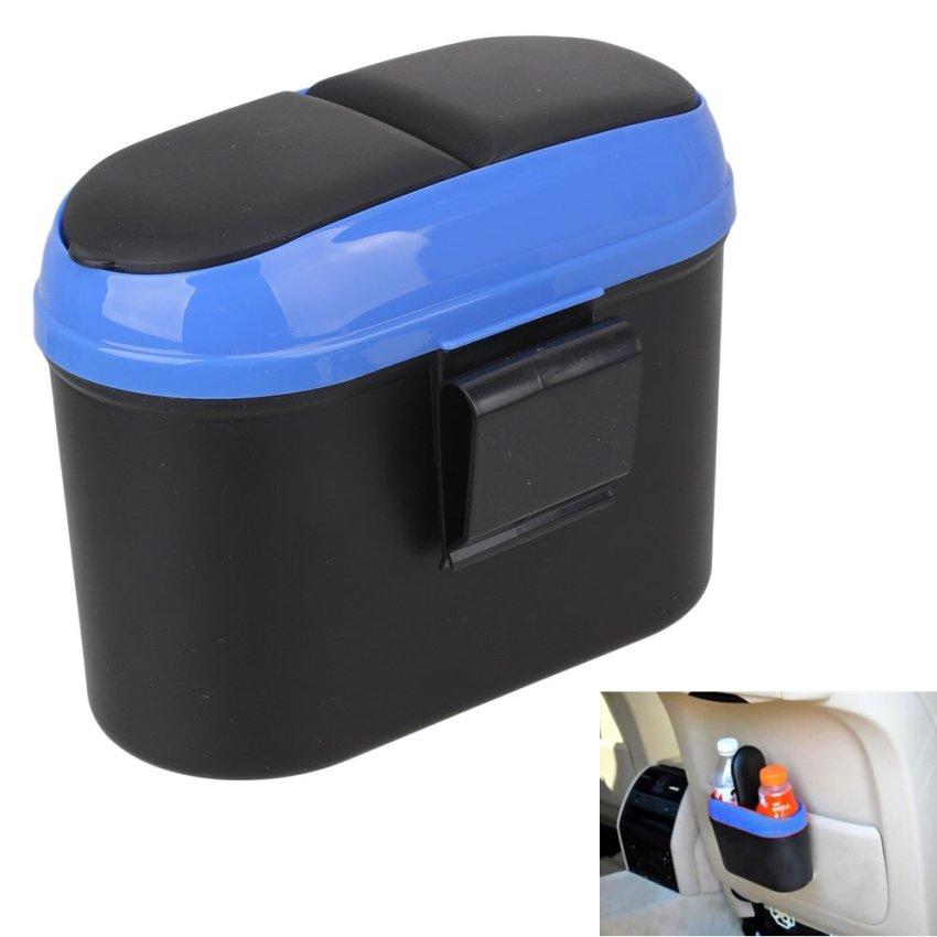 Car Dustbin Trash Can (Blue/Black)