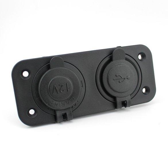 Car Lighter Socket 2.1A Dual USB Phone GPS Charge (Black) (Intl)