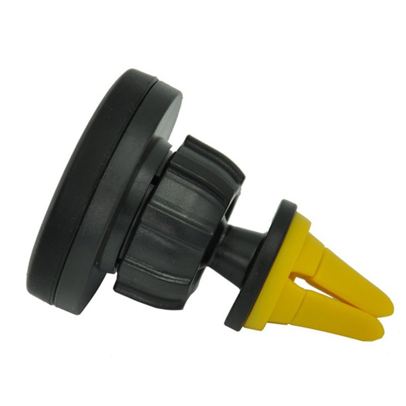 Car Mobile Phones Magnetic Support Mini Yellow Holder Vehicle air conditioning Air Outlet Cell Phone Magnet Clip (Intl)