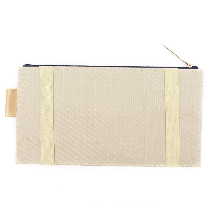 Car Sun Visor Storage Documents Organizer Bag Card Holder (White)