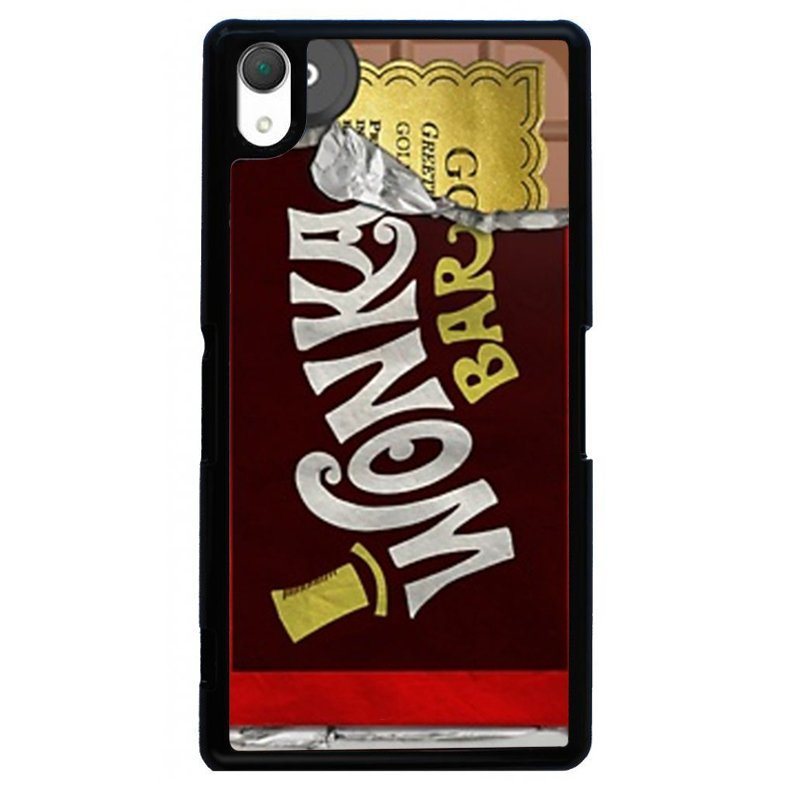 Cartoon Chocolate Printed Phone Case for SONY Xperia Z3 (Black)