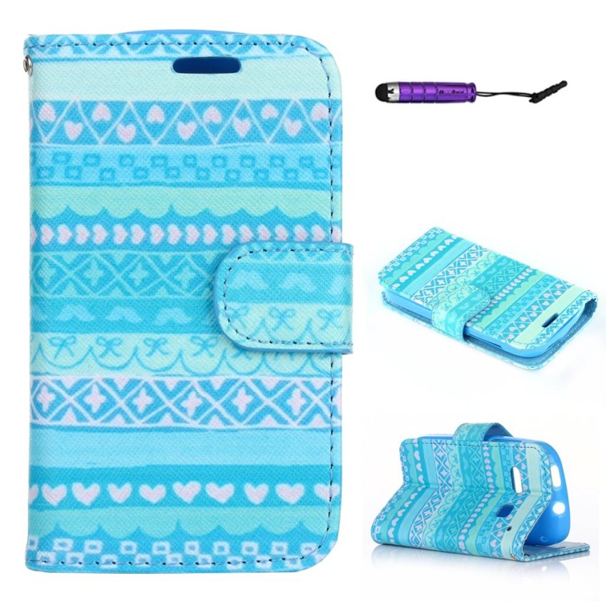 Case for Alcatel One Touch Pop C3 PU Leather Case Flip Stand Wallet Cover with Card Slots - Cute Pattern (Intl)