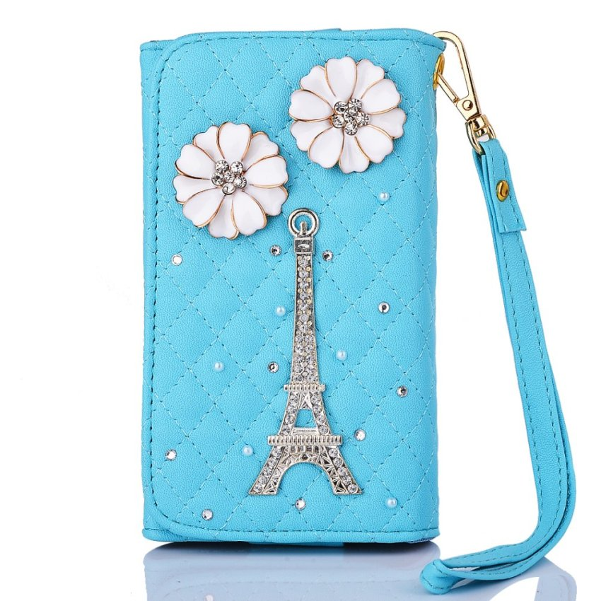 Case for Apple iPhone Samsung Huawei Sony Asus Wiko and Others Universal Bling Purse Wallet Wristlet Flip Case Cover (Intl)