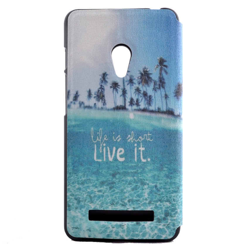 Case for Asus ZenFone 5 View Window Cover PU Leather Slim Flip Case - Live it (Intl)