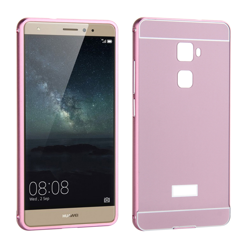 Case for Huawei Mate S Aluminum Metal Frame Bumper Case + PC Back Cover Protector - Violet (Intl)