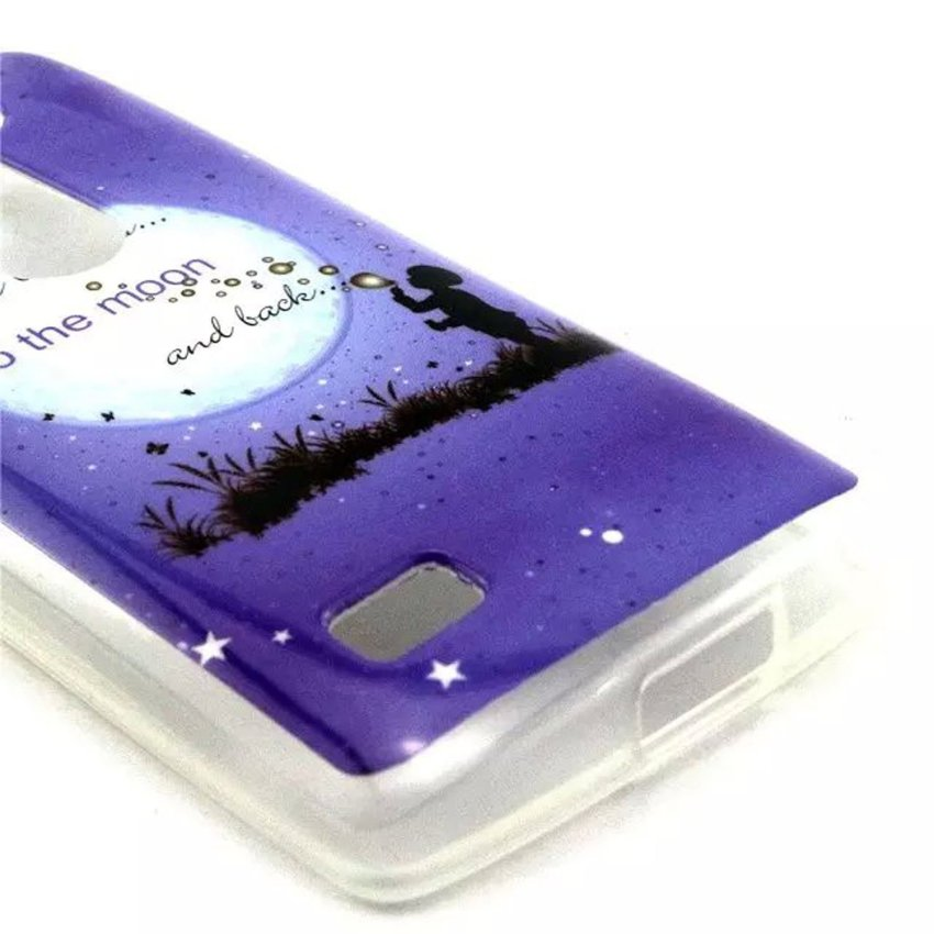 Case for LG Leon 4G LTE H340N C50 C40 Ultra-thin Flexible TPU Back Case Cover - To the Moon (Intl)