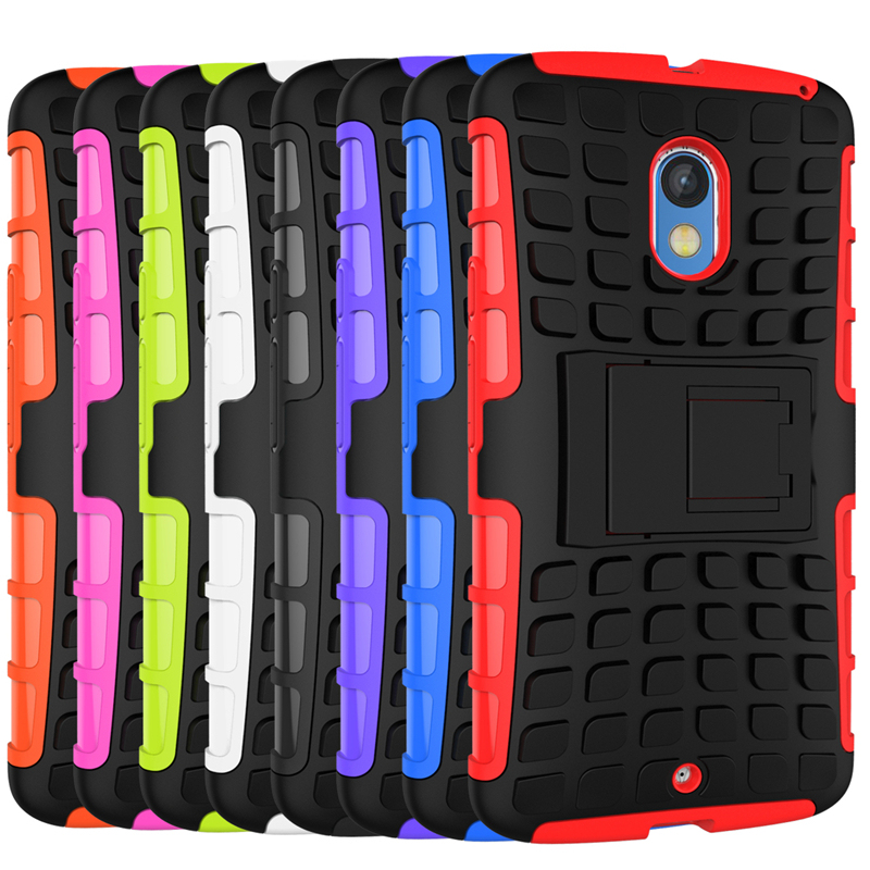 Case for Motorola Moto X Play Tire Design Shockproof Defender Case with Kickstand - Hot Pink (Intl)