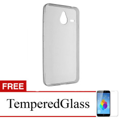 Case for Nokia Lumia 535 - Abu-abu + Gratis Tempered Glass - Ultra Thin Soft Case