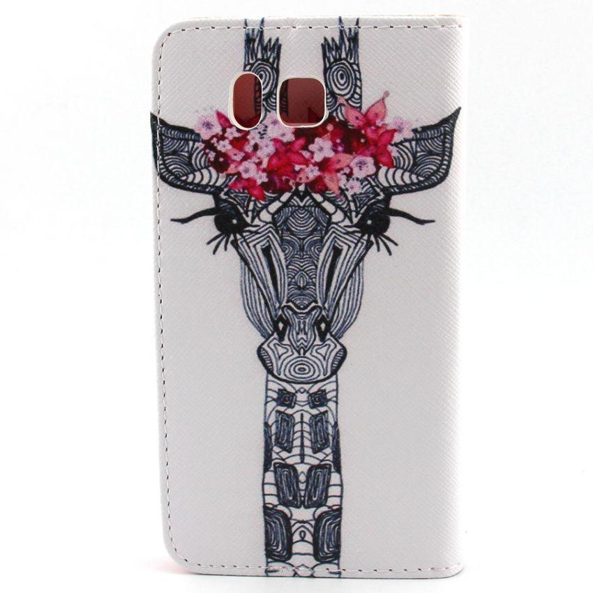 Case for Samsung Galaxy Alpha G850F PU Leather Case Flip Stand Cover - Giraffe (Intl)