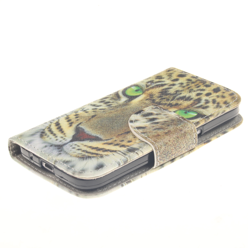 Case for Samsung Galaxy Core Prime G360 PU Leather Case Flip Stand Cover - Tiger (Intl)