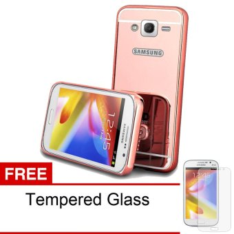 ... Case For Samsung Galaxy J1 Mini Bumper Chrome With Backcase Mirror Elegant Ros