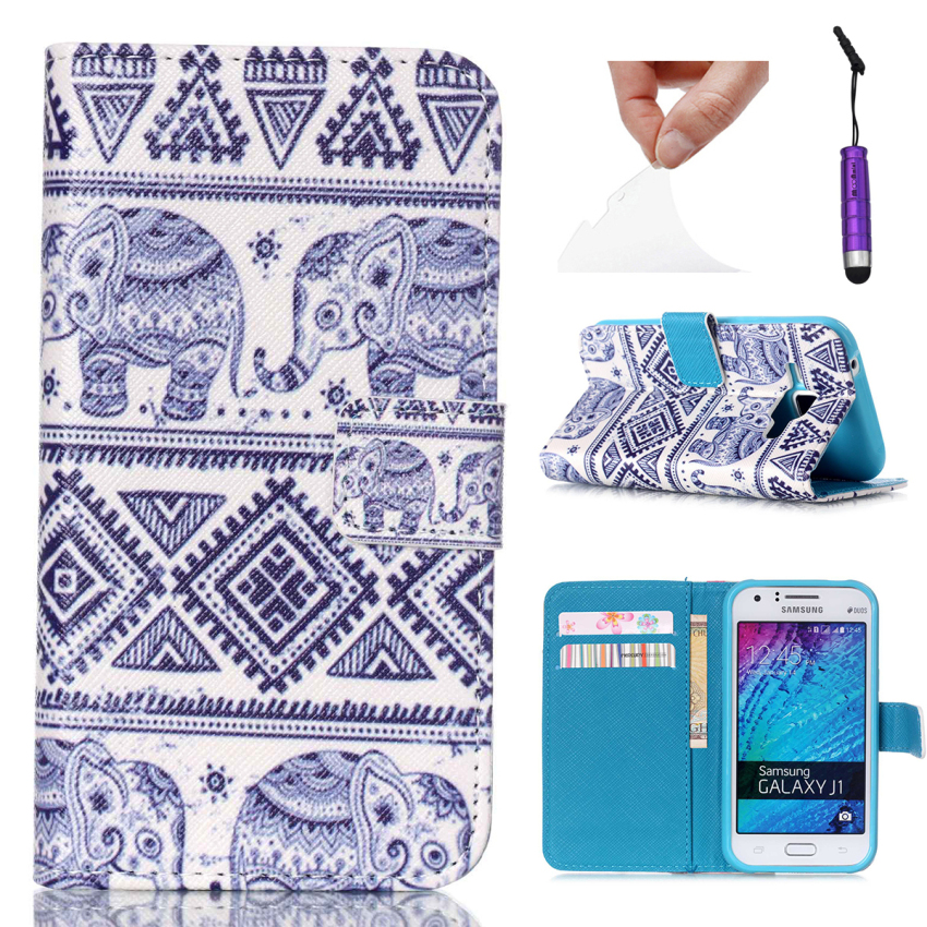 Case for Samsung Galaxy J1 Multi-functional PU Leather Flip Case Cover - Tribe Elephant (Intl)