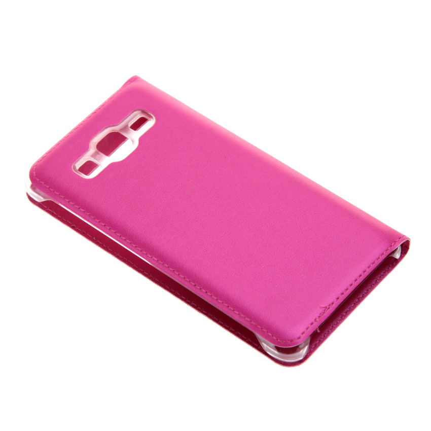 Case for Samsung Galaxy On 5 View Window Flip Standing Case Cover - Hot Pink (Intl)
