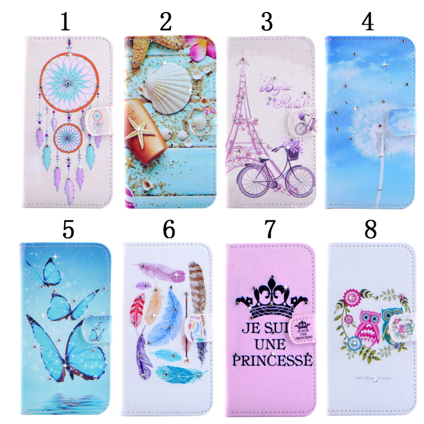 Case for Samsung Galaxy S6 Edge G9250 Diamond Multi-functional Leather Flip Case Cover - Owl Lovers (Intl)