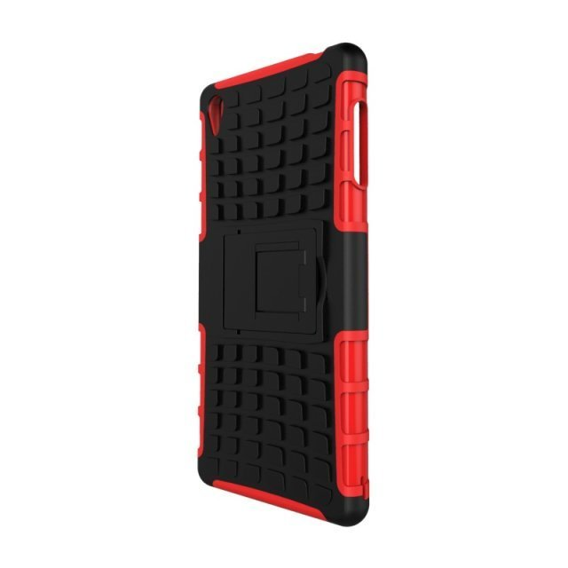 Case for Sony Xperia Z3 Tire Design Shockproof Defender Case with Kickstand - Black (Intl)