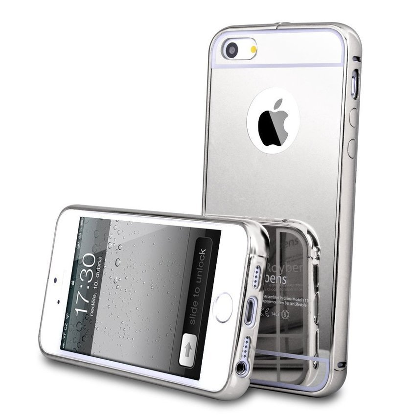 Case Iphone SE / 5S / 5 Aluminium Bumper Mirror - Abu-abu