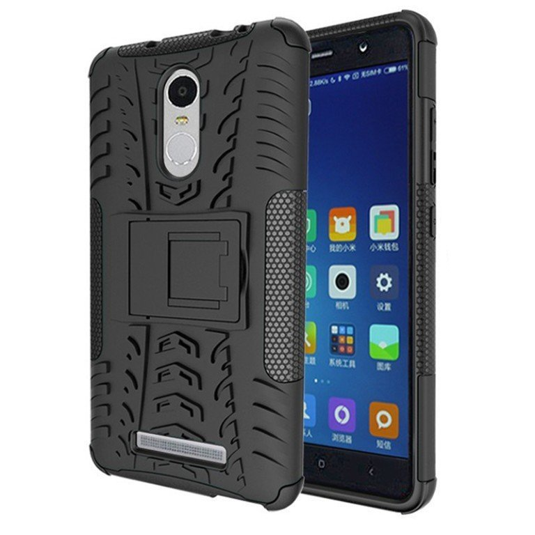 Case KIN Rugged Armor With KickStand For Xiaomi Redmi Note 3 - Hitam
