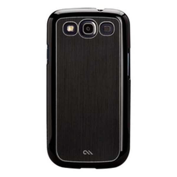 Case-Mate Samsung Galaxy S3 Faux Brushed Aluminum - Hitam