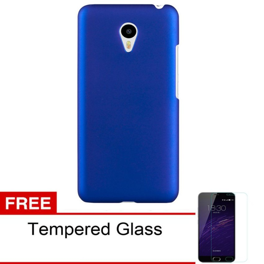 Case Meizu M2 Note HardCase Frosted Shell - Biru + Tempered Glass