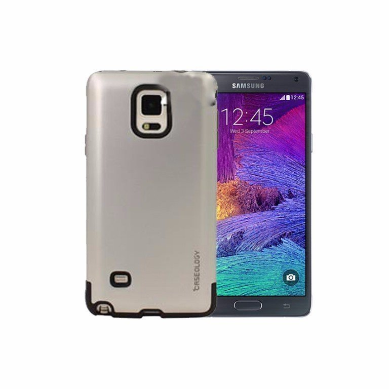 Caseology Dual Shell Slim Armor Case For Samsung Galaxy Note 4 - Silver