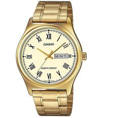 Casio Analog Watch Jam Tangan Pria - Gold - Stainless Steel Band - MTP-V006G-9BUDF