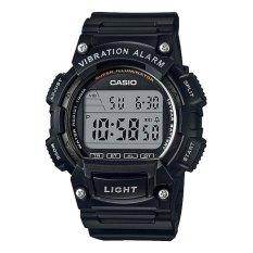 Casio Digital Jam Tangan Pria - Hitam - Strap Karet - W-736H-1A