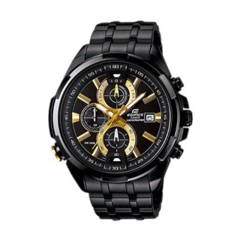 Casio Edifice EFR-536BK-1A9V (Hitam + Gold)