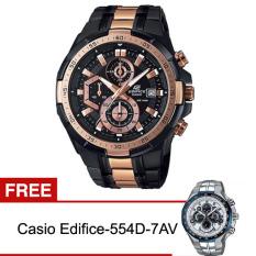 Casio Edifice Efr-539Bkg-1Av Jam Tangan Pria - Stainless Steel FREE Casio Edifice-554D-7AV - Silver - Hitam