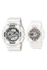 Casio G-Shock & Baby-G Men's & Womens GA-110BC-7A & BA-110-7A3 Resin Strap Watch White