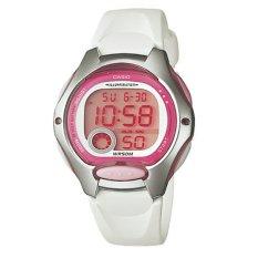Casio - Jam Tangan Wanita - Putih Pink - Strap Resin - LW200-7AVD