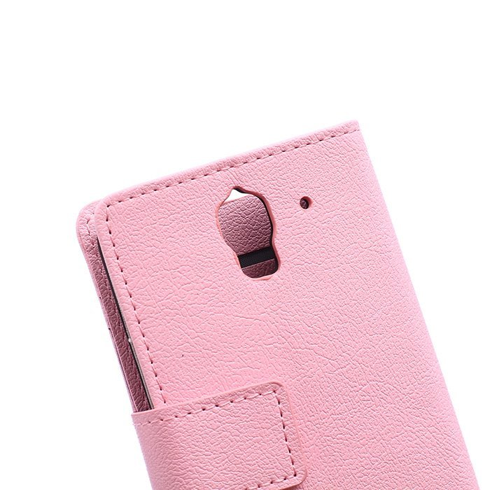 Cass Leather Flip Case With Card Slot for Huawei Ascend Y360 (Pink) (Intl)
