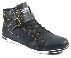 Cassico Ca 411 Sepatu High Cut Sneaker Pria - Leather - Tpr Outsole - Keren Dan Modis - Hitam