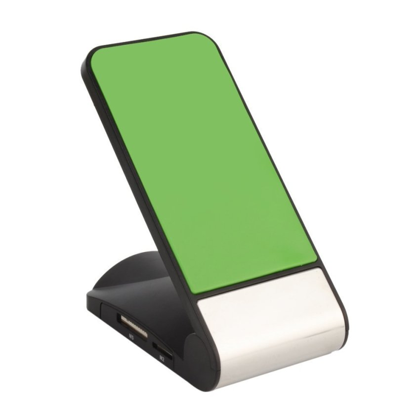 Cellphone Stand Holder with Multi Card Reader (Green)