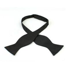 Channy Fashion Adjustable Men's Multi Colors Self Bow Tie Necktie Ties Neckwear Cravat Black - Intl