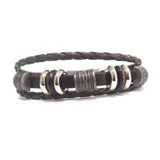 Charming Totems Punk Unisex Womens Men Wristband Metal Studded Leather Bracelets