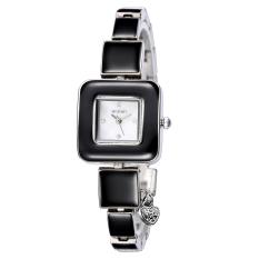 Chechang WEIQIN Rhinestone Square Dial Gold Watch New Fashion Designer Women Luxury Brand Watches Quartz Movt Ladies Dress Wrist Watch (Black Silver White)