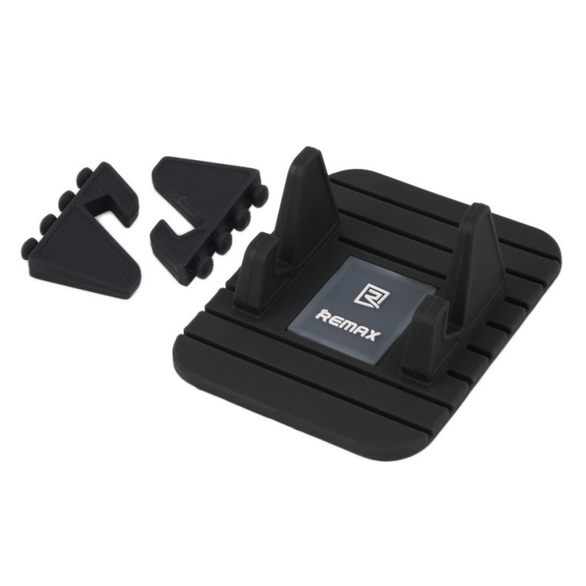 CHEER Black Silicon Phone Holder Mount Stand Cradle Non Slip Mat Pad for Remax (Black) (Intl)