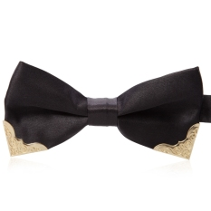 Chic Metal Decorated Bow Tie For Wedding Dress - T31 (Black)