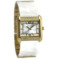 Christ Verra Jam Tangan Wanita Gold Putih Leather Strap CV70138L-72