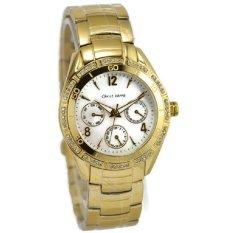 Christ Verra Jam Tangan Wanita - Gold - Stainless Steel - 21736L-12